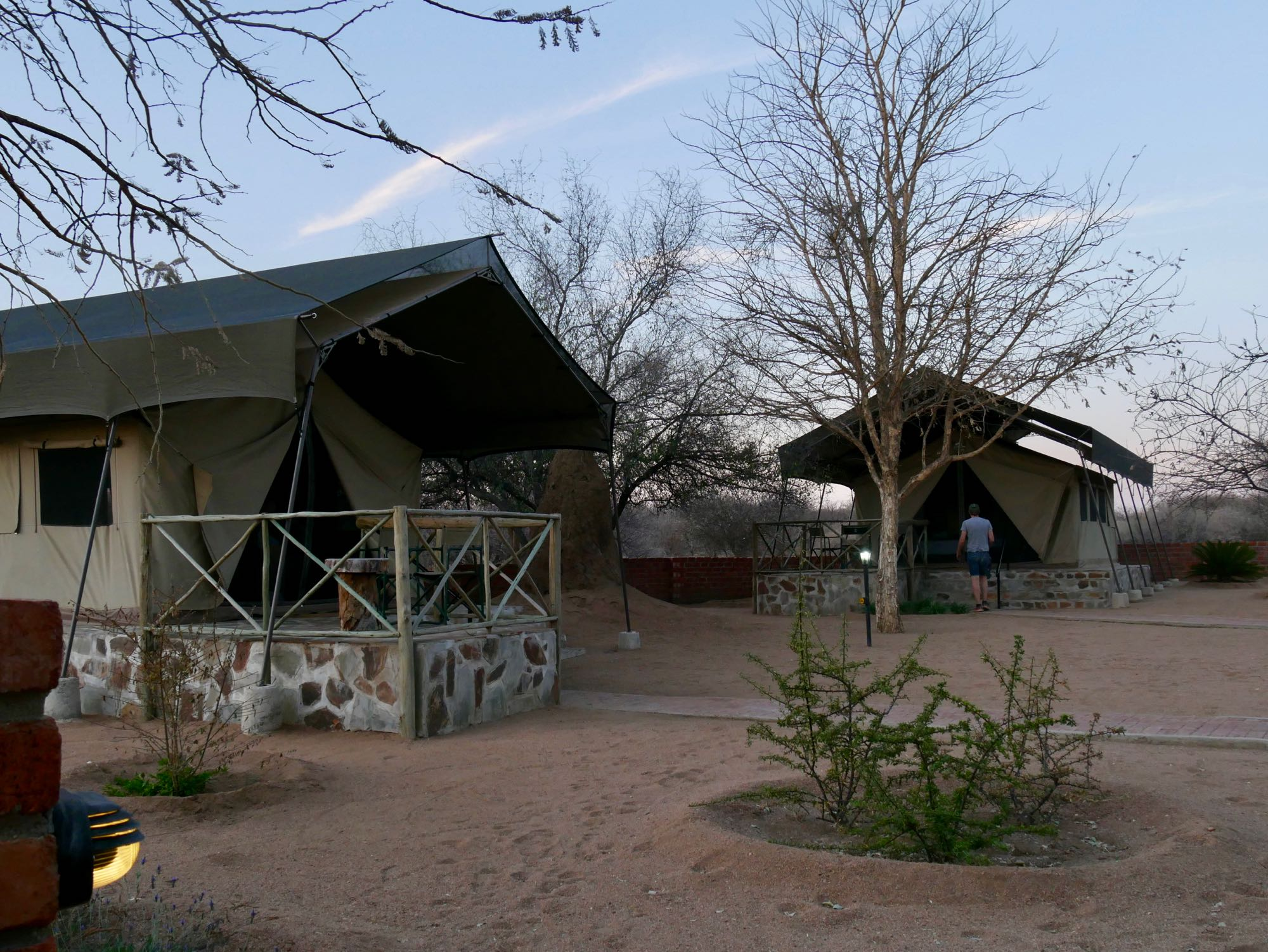 Les tentes d'Omatozu Camp
