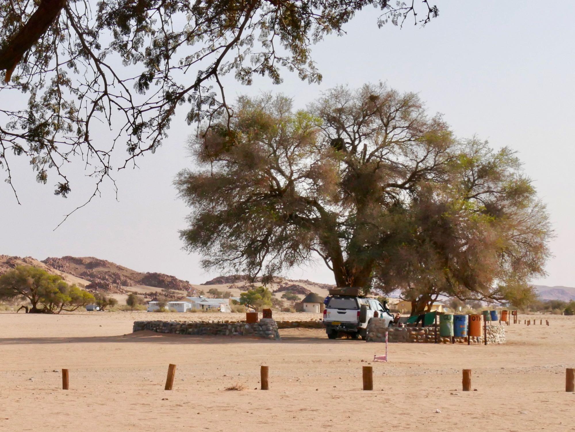 Un emplacement de camping à Sesriem