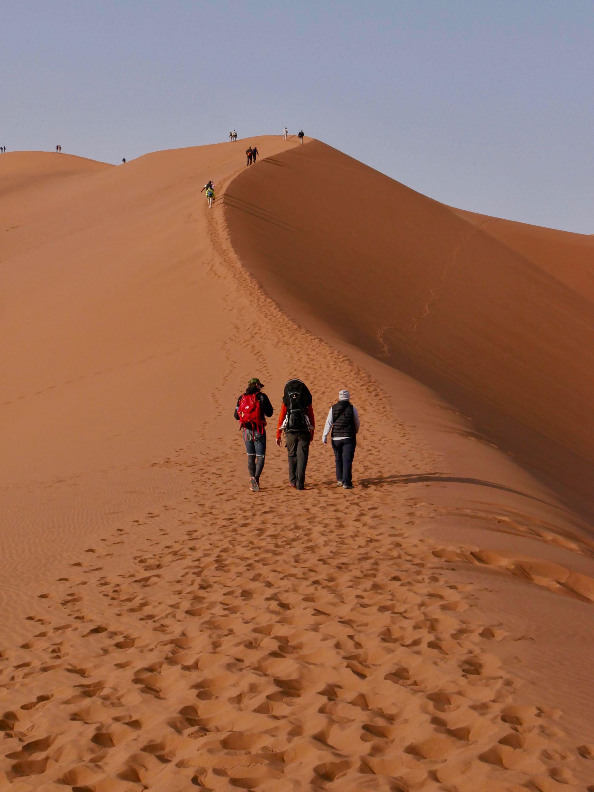 A l'assaut de la célèbre dune Big Daddy