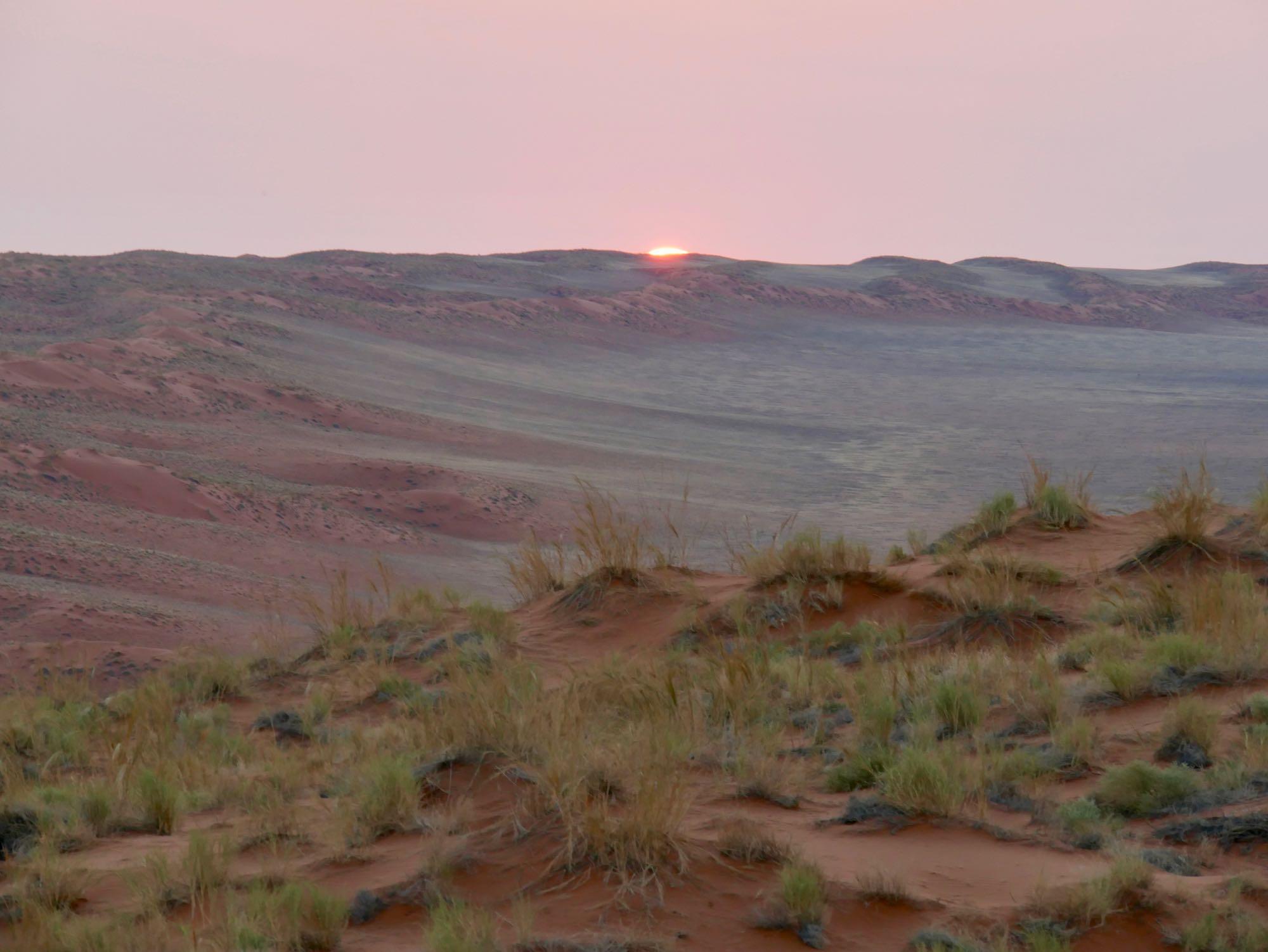Fin du coucher de soleil sur Elim Dune