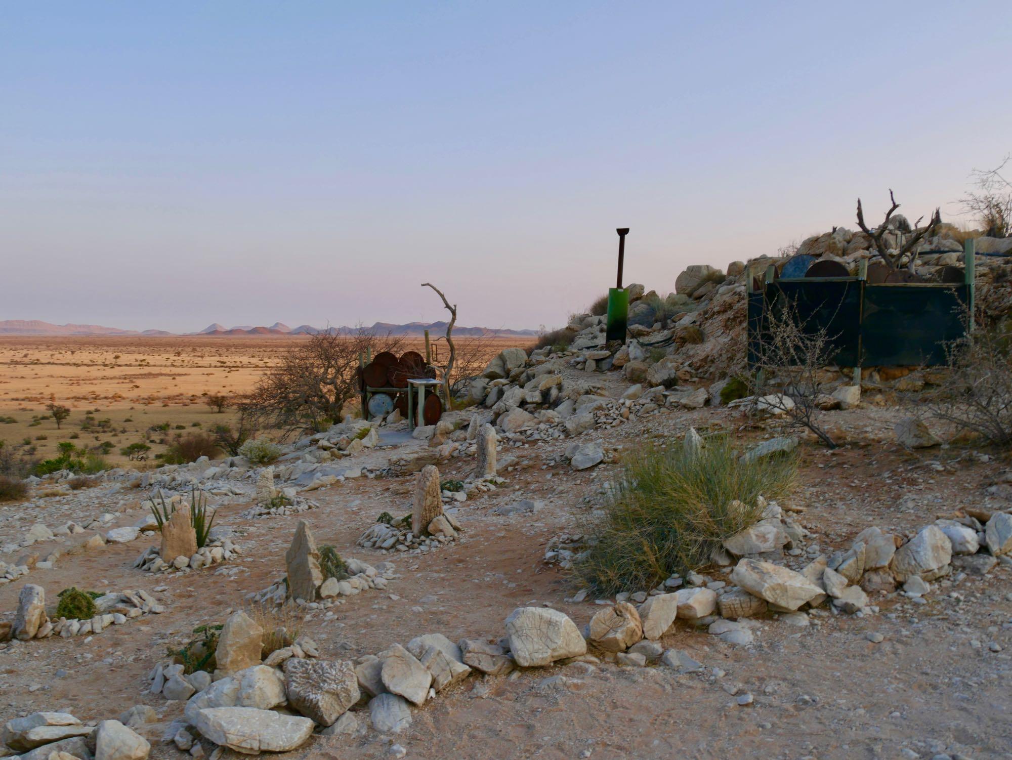 Douche et toilettes du Eagle Gecko Camp