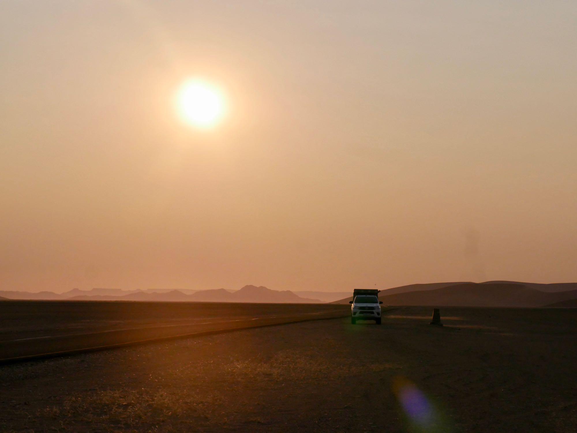 Départ matinal en 4x4 pour découvrir le désert du Namib