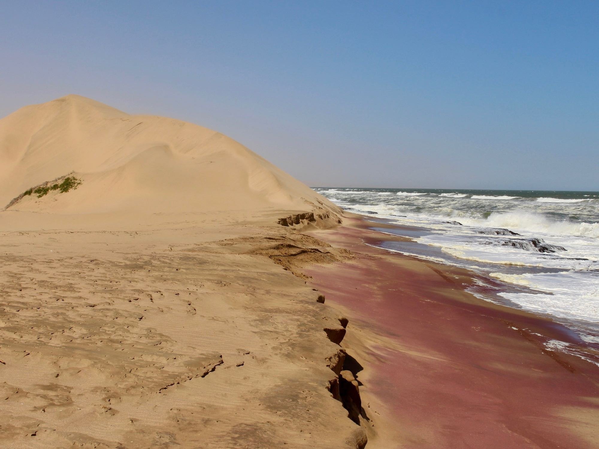 Le désert du Namib se jette dans la mer à Sandwich Harbour
