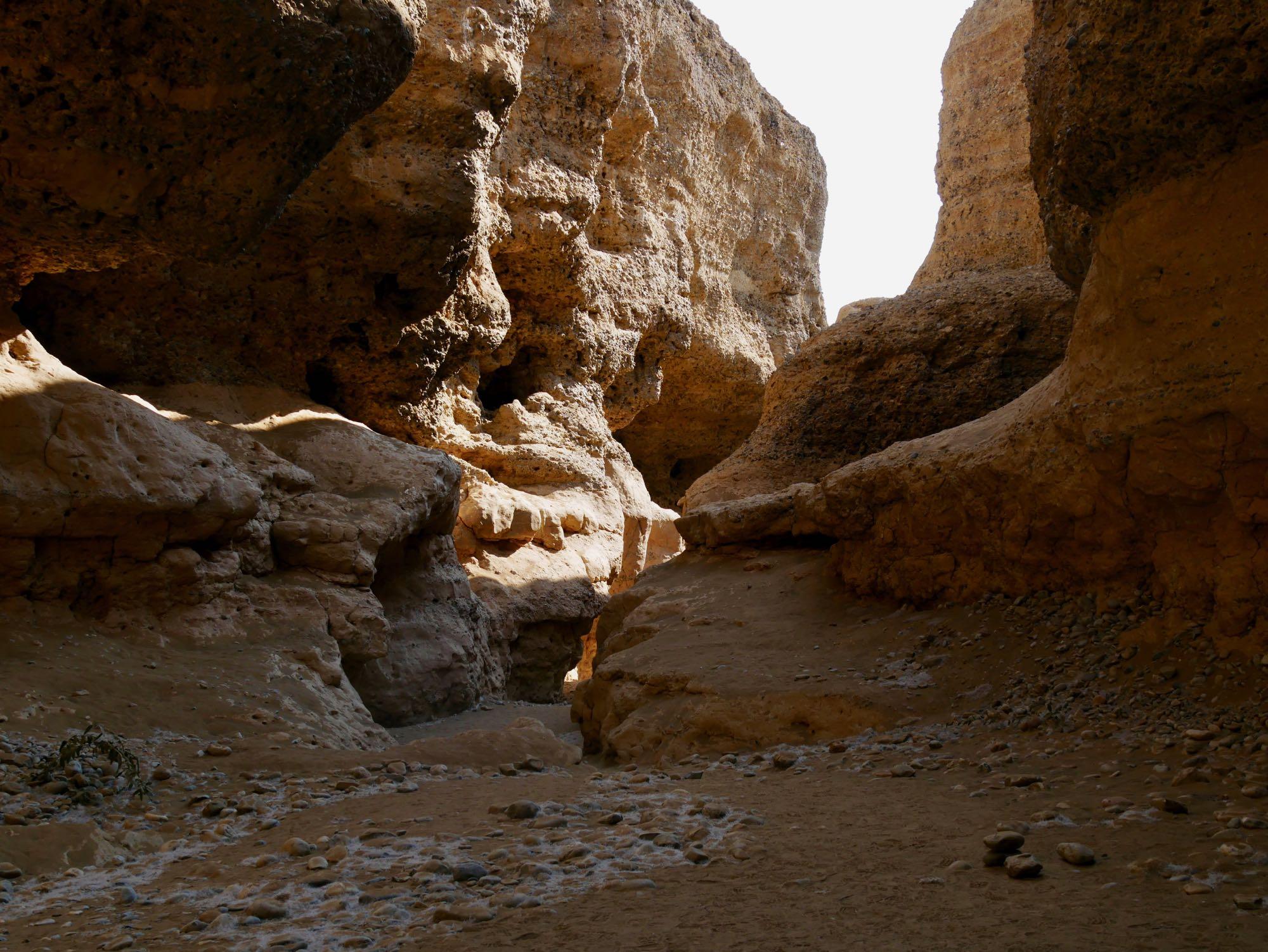 Au fond du canyon de Sesriem