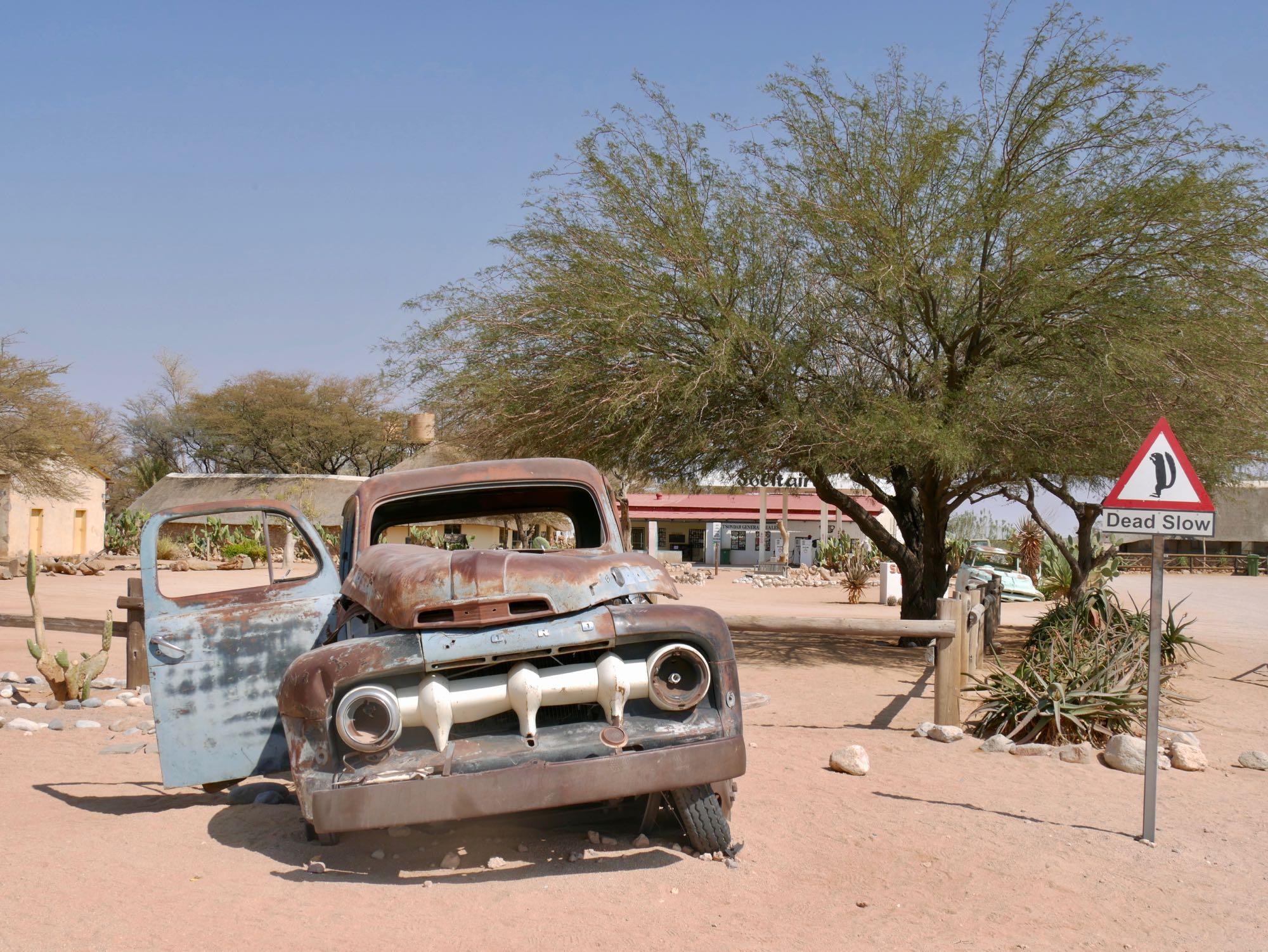 Vieille voiture à Solitaire, Namibie