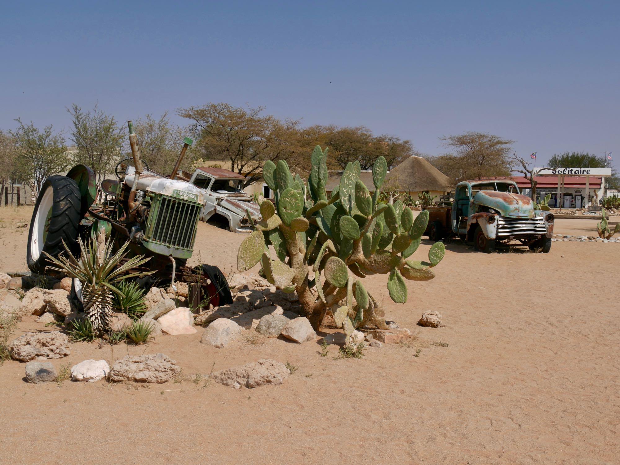 Vieux tracteurs à Solitaire, Namibie