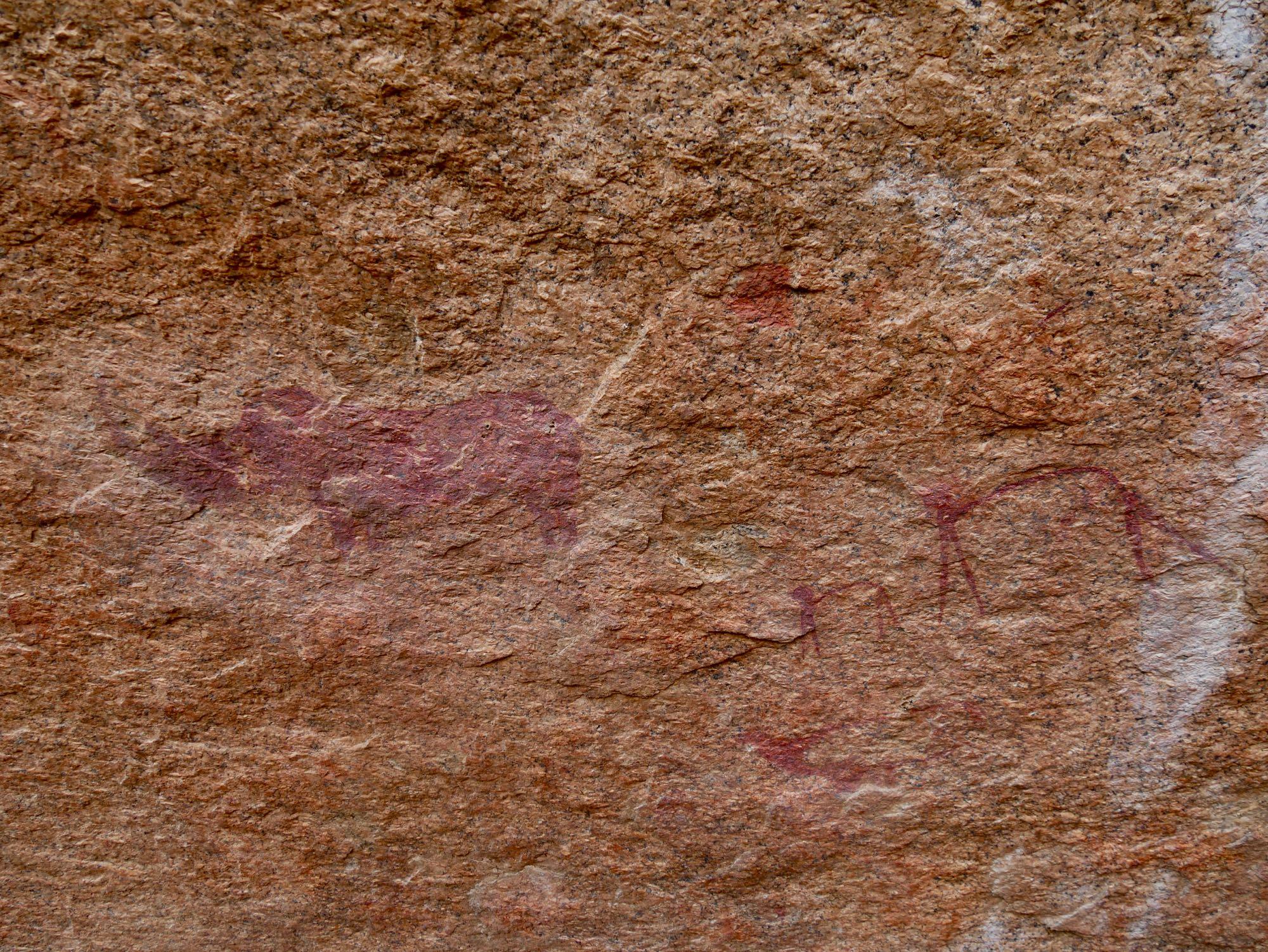 Les peintures rupestres de Bushmen paradise au Spitzkoppe