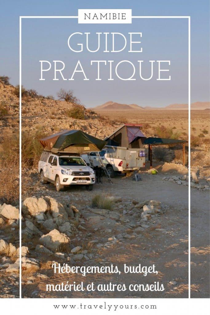 Image d'épingle Guide Pratique Namibie