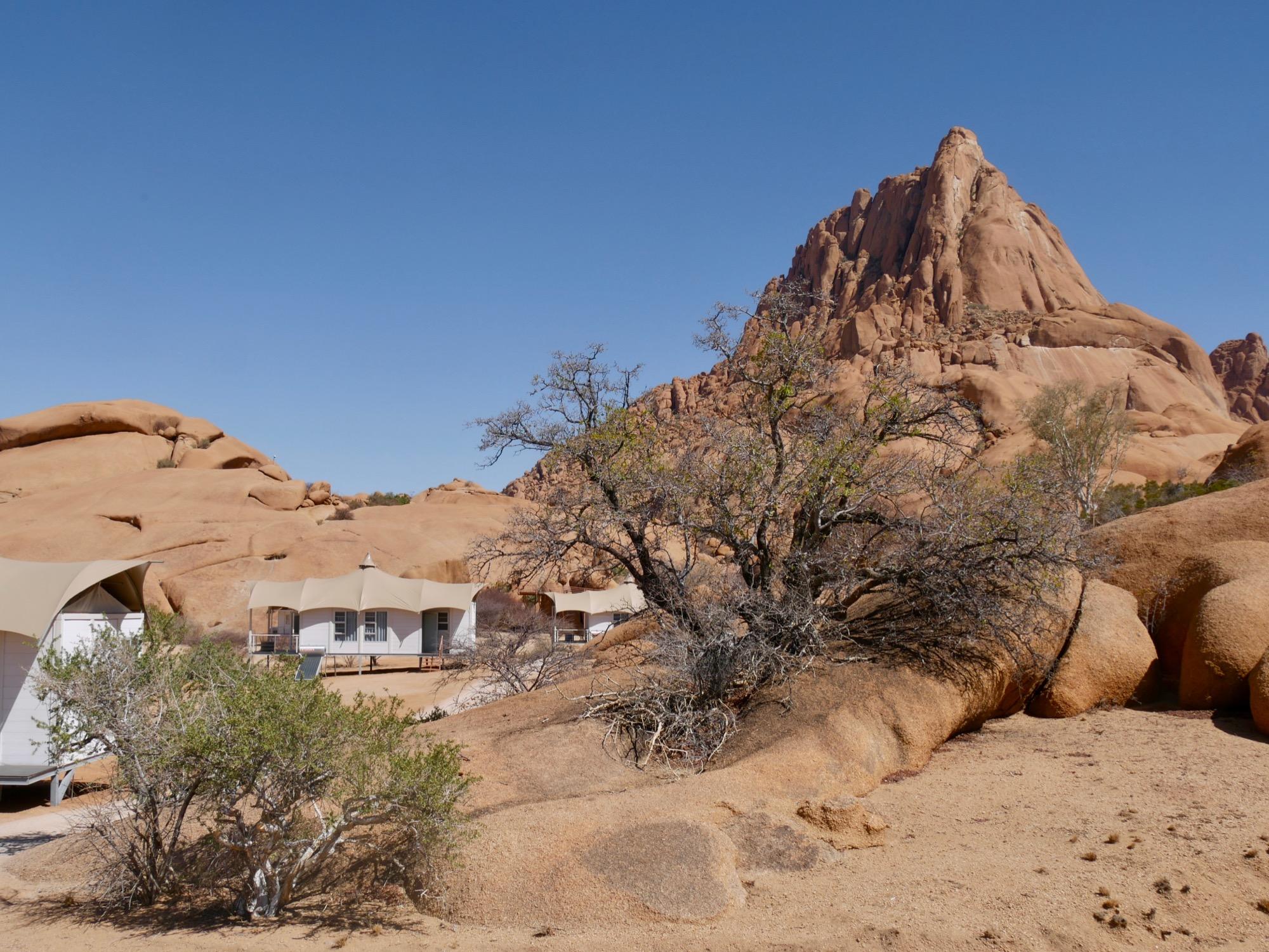 Le Spitzkoppen Lodge dans son cadre exceptionnel
