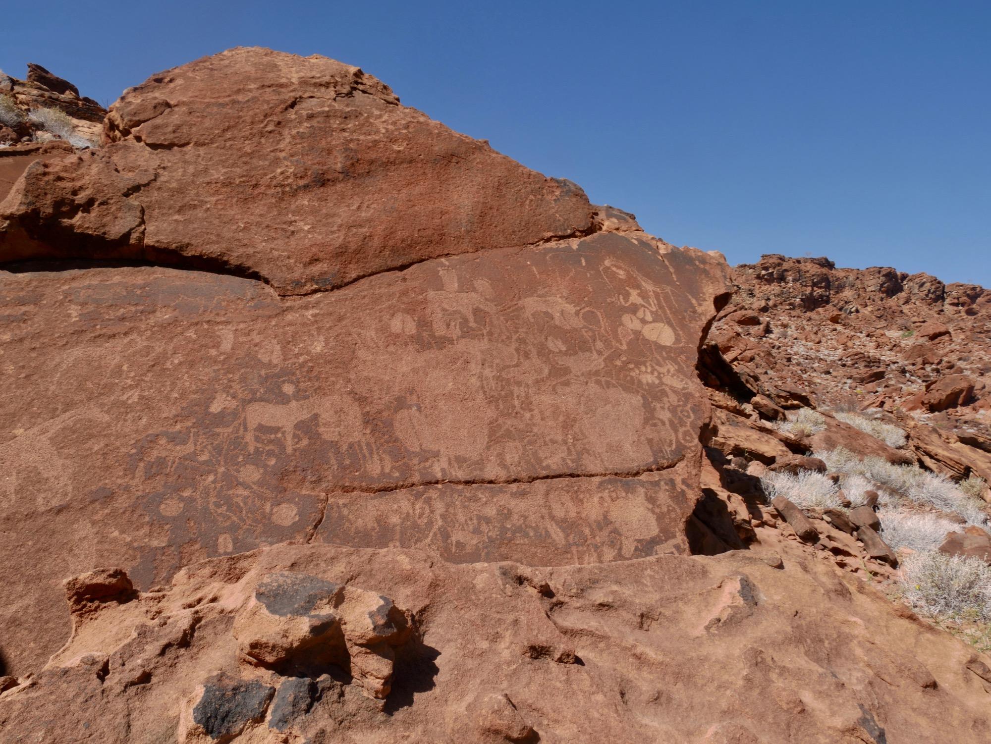 Gravure rupestre de Twyfelfontein