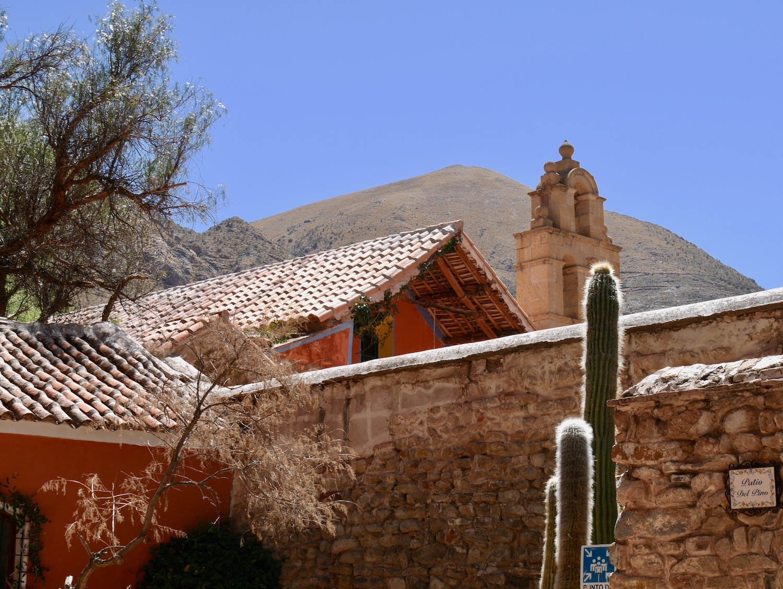 Vue des sommets autour de la Hacienda Cayara