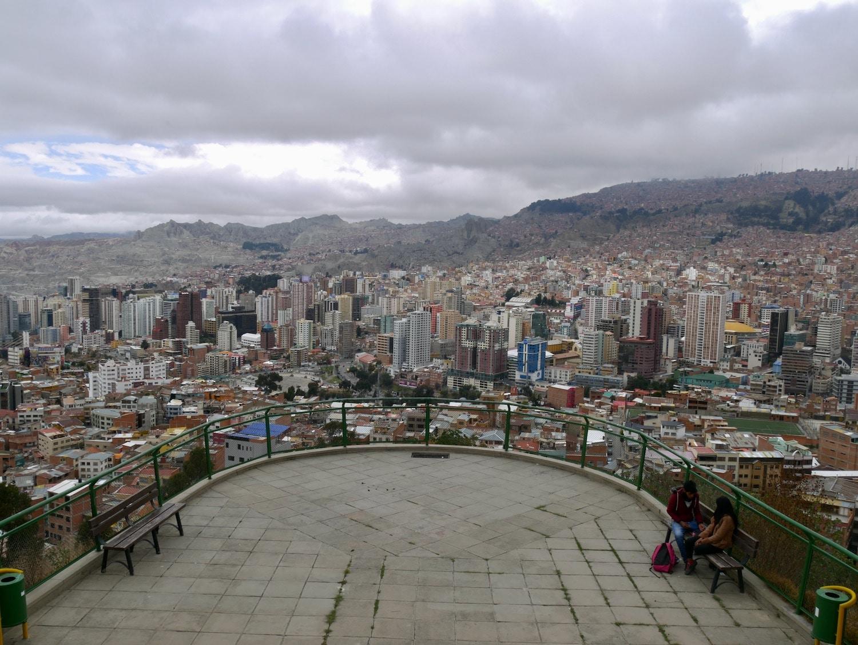 Vue de La Paz depuis le mirador Kilikili