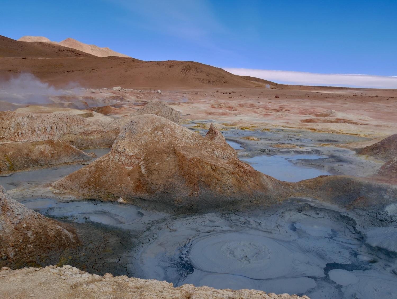 Les geysers de Sol de Manana dans le Sud Lipez en Bolivie