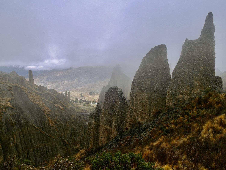 Valle de los animas sous le brouillard