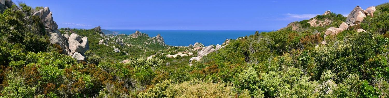 Vue panoramique sur la Costa Paradiso depuis la Casa Smeralda