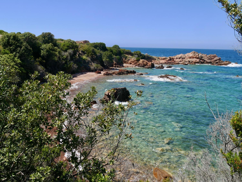 Eau turquoise de Sardaigne vue lors de la randonnée de Costa Paradiso